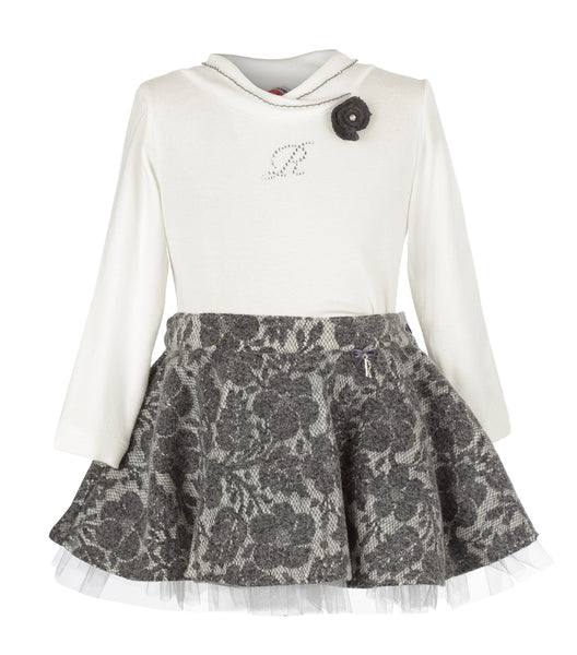 Girls 2 Pieces Set Blouse & Skirt