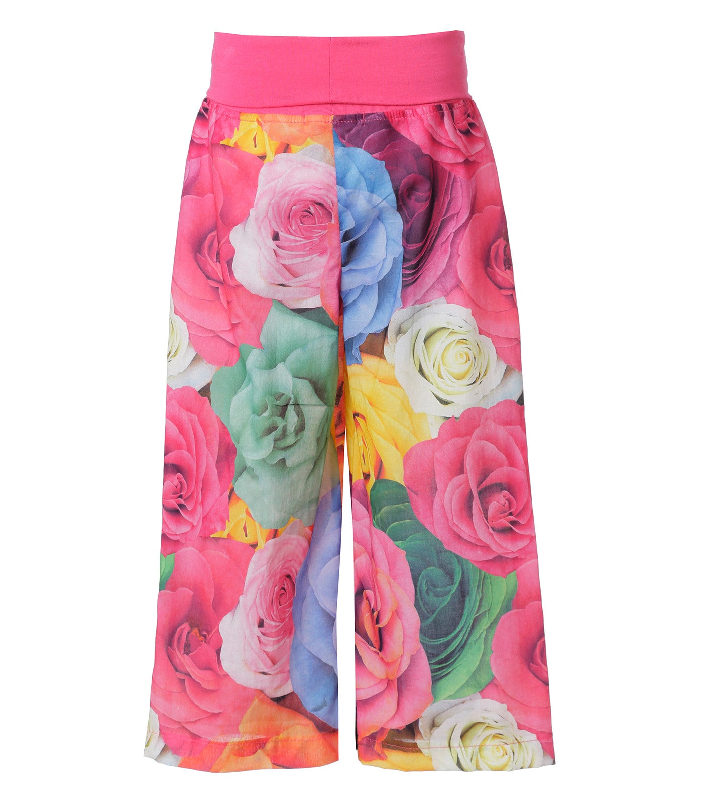 Girls Pants with Striking Floral Pattern