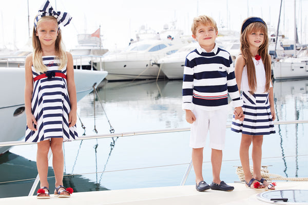 designer stripes dress for girls