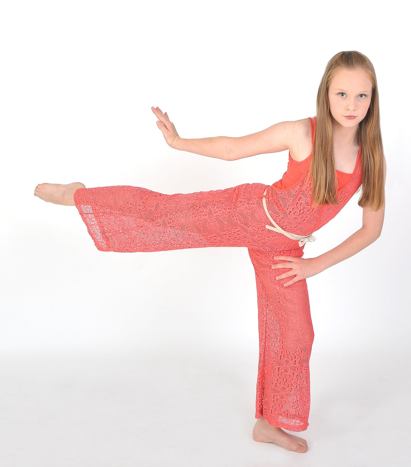 Jumpsuit in pink for girls
