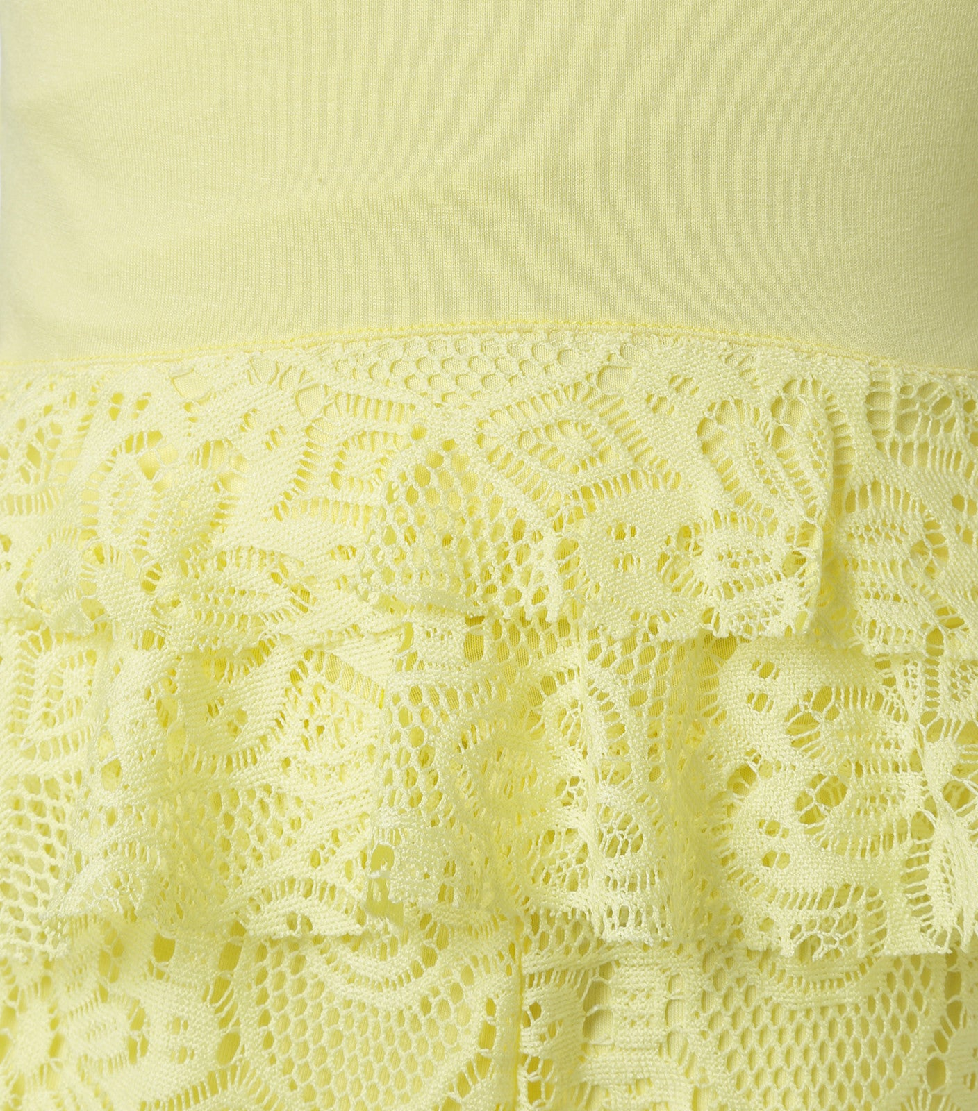 Yellow Top and lace pants for girls