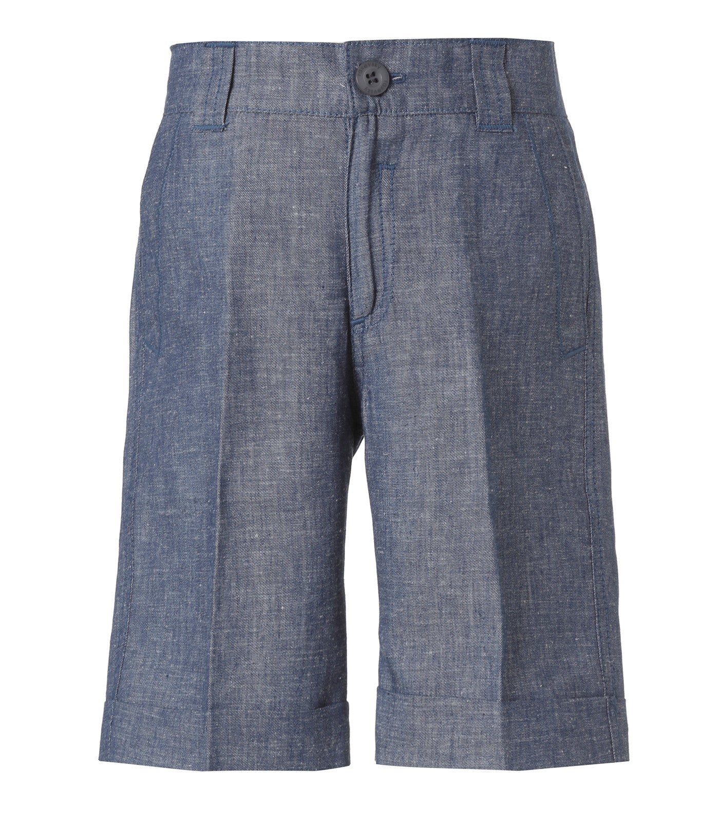 Boys Cotton/linen Bermuda in Blue