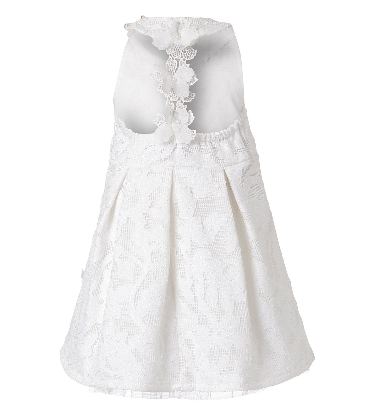 Baby Girls Ivory Lace Christening Dress