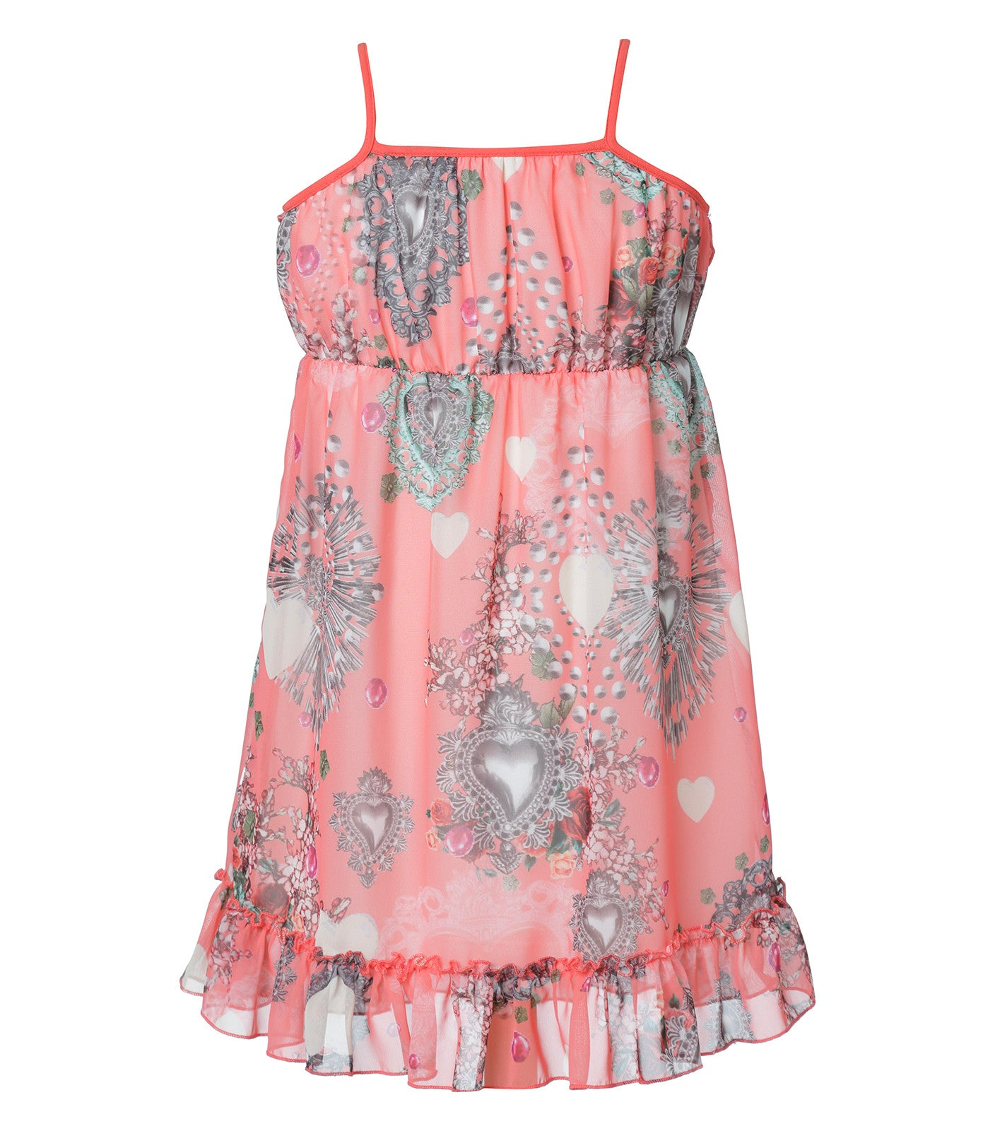 Hum dress in coral pink
