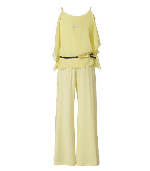Girls Jumpsuit in Yellow