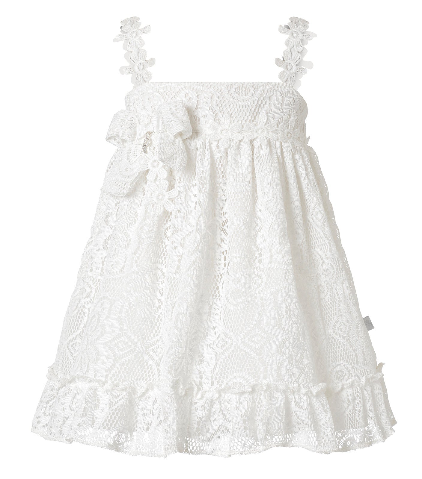 Baby Girl Flower lace dress white
