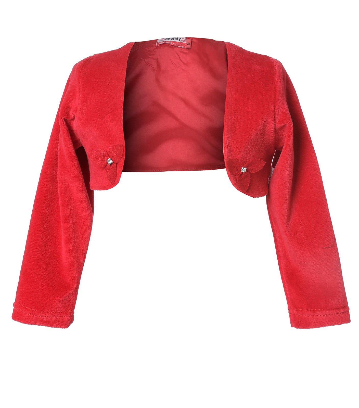 Red Velvet Bolero for girls