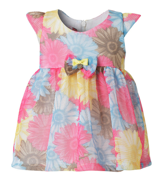 Baby Girls Cute Dress in Floral Pattern