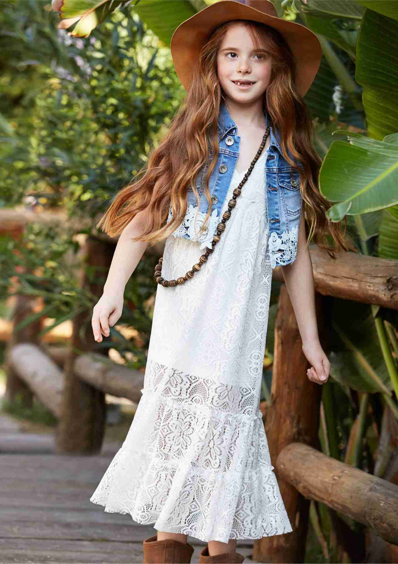 White Summer dress for girls