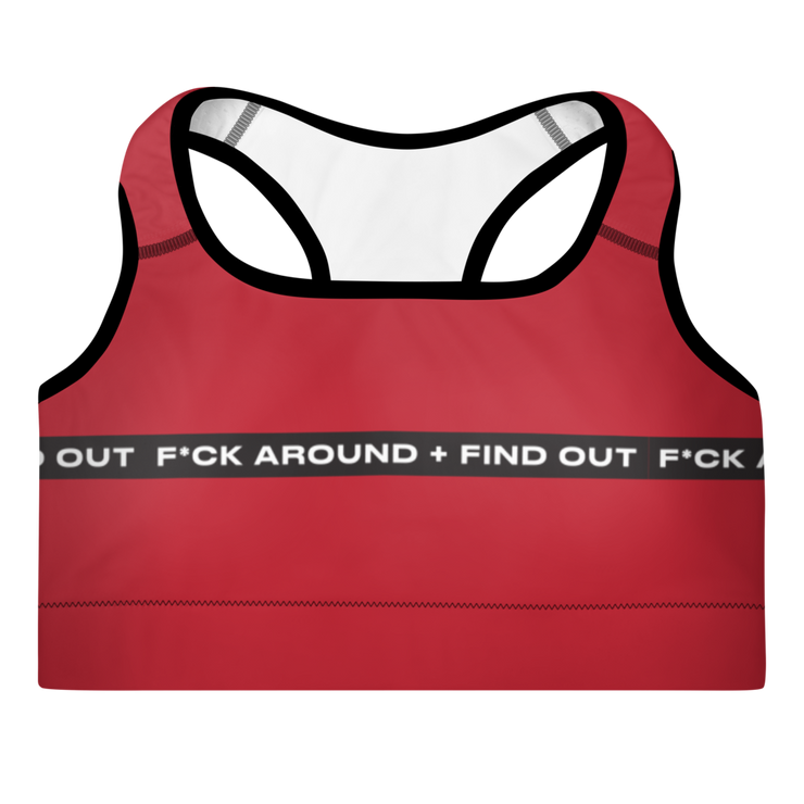 F*ck Around + Find Out Padded Sports Bra