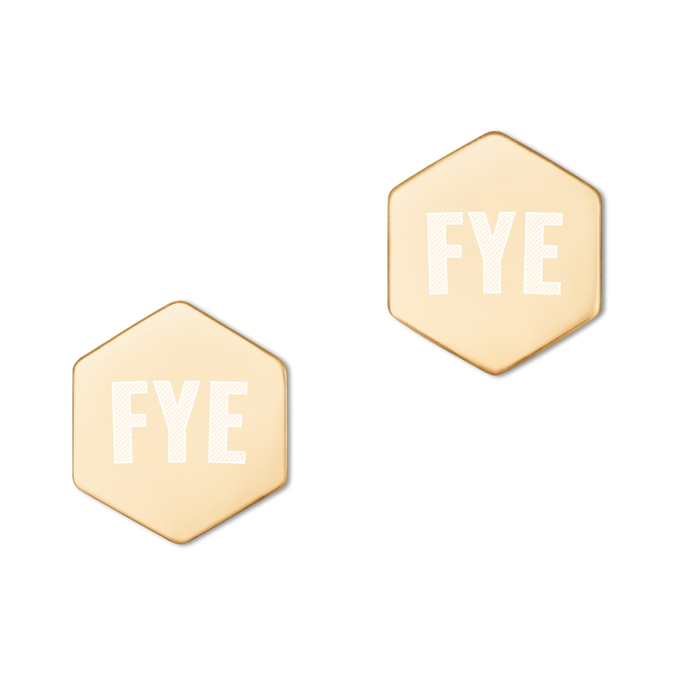 Fye Stud Earrings, Sterling Silver
