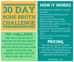 30 Day Bone Broth Challenge (In Store Pick Up)