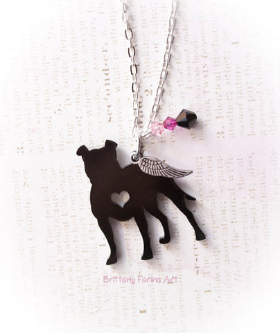 Black PitBull Necklace