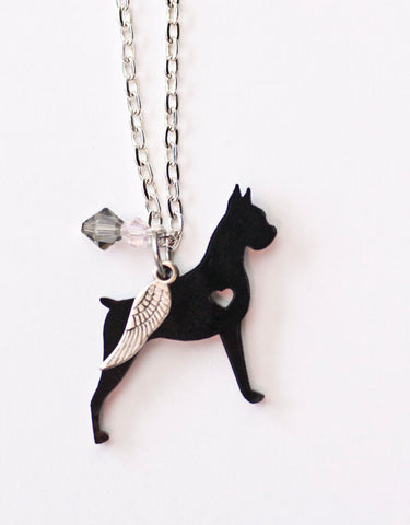 Cropped Boxer Necklace