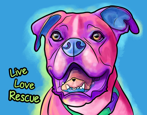 Live. Love. Rescue. Boxer