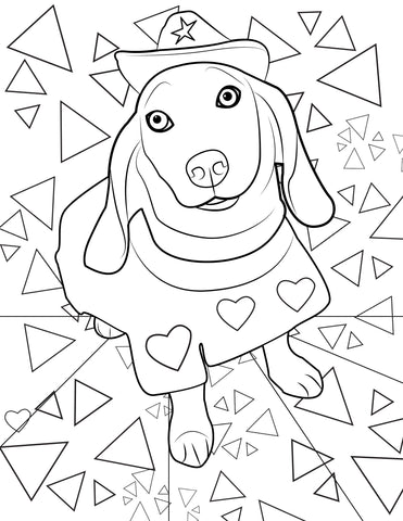 Tired Dog Coloring Book