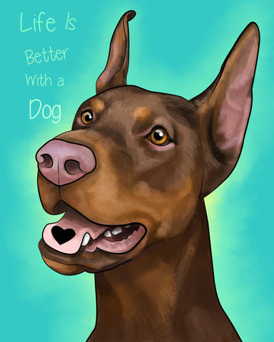 Doberman Brown