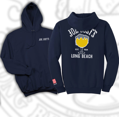 Joe Jost's Schooner Pull Over Hooded Fleece Navy