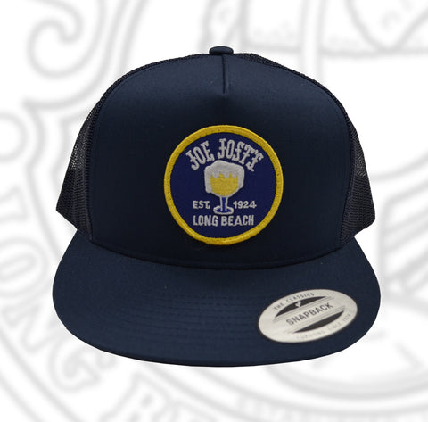 Joe Jost's Circular Logo Trucker Patch Hat Navy