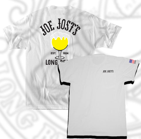 Joe Jost's White Schooner Tee with Pocket