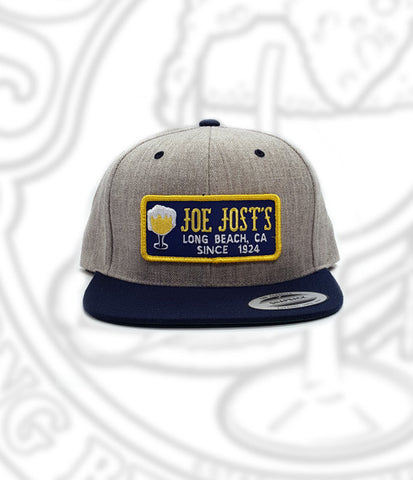 Joe Jost's Wool Patch Hat Grey/Navy