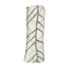 Image of Bamboo Muslin Baby Swaddle Blankets - White + Grey Arrows