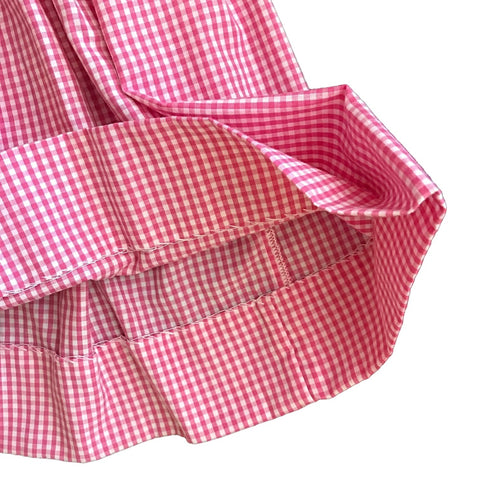 PETIT AMI Pink + White Plaid Watermelon Summer Dress + Bloomers