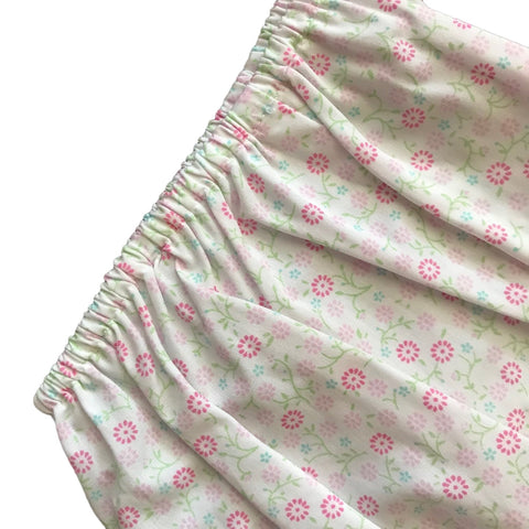 PETIT AMI Pink + Mint Green Floral Summer Dress + Bloomers