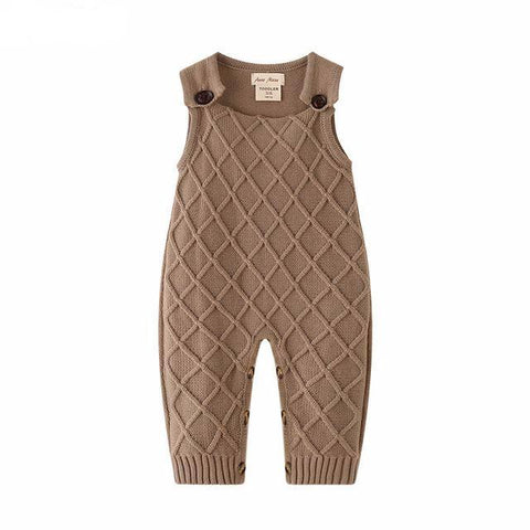 Alexander Brown Knitted Sleeveless Sweater Romper