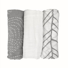 Image of Bamboo Muslin Baby Swaddle Blankets (Set of 3)