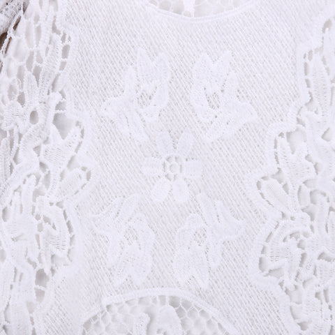 Gracie White Lace Bell Sleeve Romper