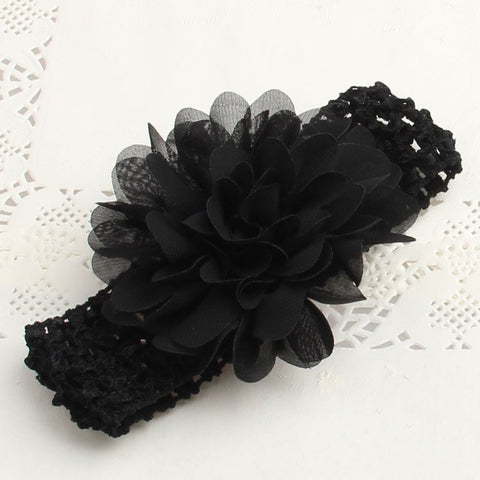 Chiffon Flower Lace Headband - Various Colors