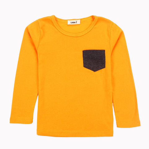 Timothy Colored Pocket Long Sleeve Top - Yellow