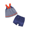 Image of Adelynn Navy Sailboat 2-piece Summer Outfit