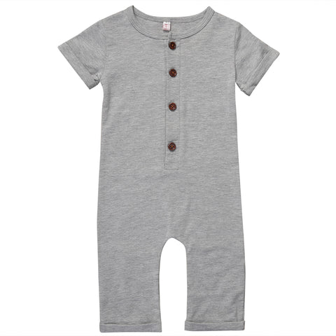 Jason Short Sleeve Romper - Grey