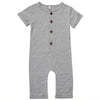 Image of Jason Short Sleeve Romper - Grey