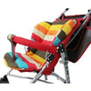 Image of Multi-Color Striped Waterproof Baby Stroller Cushion Cover