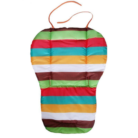 Multi-Color Striped Waterproof Baby Stroller Cushion Cover