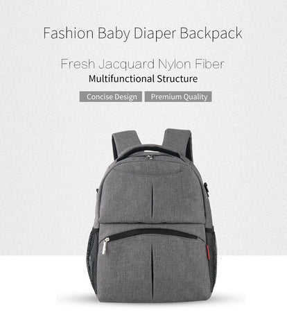 Waterproof Backpack Diaper Bag - Various Colors