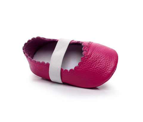 Nellie Genuine Leather Ballet Rubber Sole Walkers - Various Colors