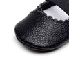 Image of Nellie Genuine Leather Ballet Rubber Sole Walkers - Black