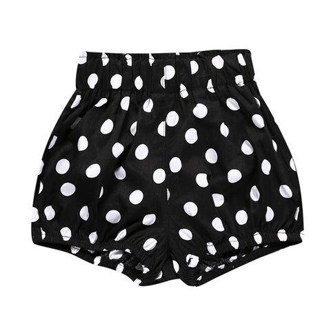 Jordan Muslin Bloomers - Black + White Dots