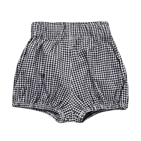 Jordan Muslin Bloomers - Black + White Plaid