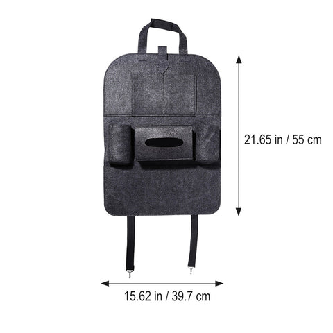 Car Seat Organizer with Pockets + Holders - Various Colors