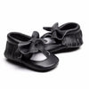 Image of Courtney Genuine Leather Bow + Fringe Rubber Sole Walkers - Various Colors