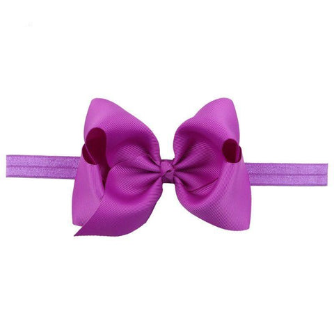 "Katie Over Sized 4"" Bow with Elastic Headband - Various Colors"