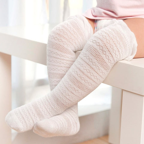 Ariel Knee High Socks - White