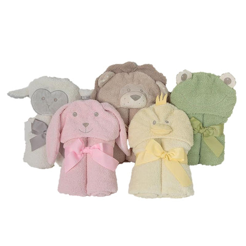 Animal Friends Hooded Bath Towels