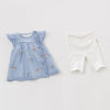 Image of Delilah 2-piece Sky Blue + Flower Summer Outfit