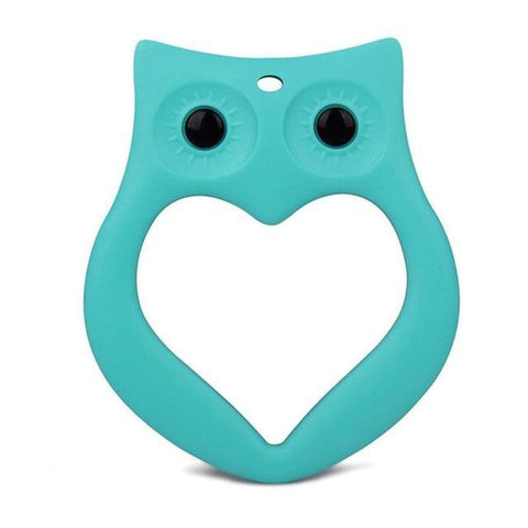 BPA-Free Silicone Owl with Heart Teether - Various Colors